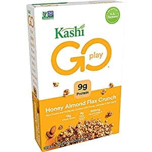 Kashi Go Breakfast Cereal, Honey Almond Flax Crunch, Non-GMO Project Verified, 14 oz Box (4 Boxes)~$9.56 With Coupon & S&S @ Amazon~Free Prime Shipping!