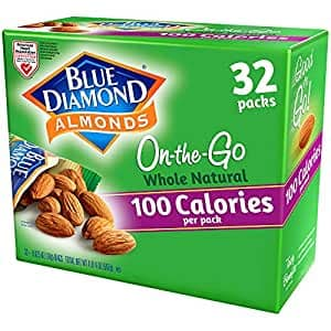 Blue Diamond Almonds Whole Natural Raw Snack Nuts, 100 Calorie Travel Bags, 32 count~$11.39 With S&S @ Amazon~Free Prime Shipping!