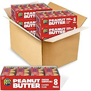 Ritz (RIUM9) Sandwich Crackers, (6 Boxes) 1.38 Ounce (Pack of 48), Peanut Butter, 66.24 Ounce~$9.51 @ Amazon~Free Prime Shipping!
