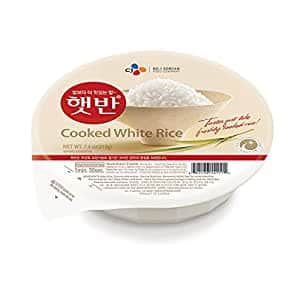 CJ Rice - Cooked White Hetbahn, Gluten-Free & Vegan, 7.4-oz (12 Count), Instant & Microwaveable~$11.11 With S&S @ Amazon~Free Prime Shipping!