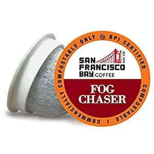 SF Bay Coffee OneCUP Fog Chaser 80 Ct Medium Dark Roast & More~Compostable Coffee Pods,K Cup Compatible including Keurig 2.0~$24.15 After Coupon & S&S @ Amazon~Free Prime Shipping!