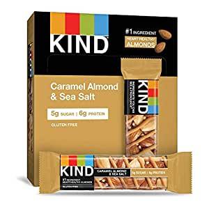 KIND Healthy Snack Bar, Caramel Almond & Sea Salt, 5g Sugar | 6g Protein, Gluten Free Bars, 1.4 Oz, 12 Count~$8.24 @ Amazon~Free Prime Shipping!
