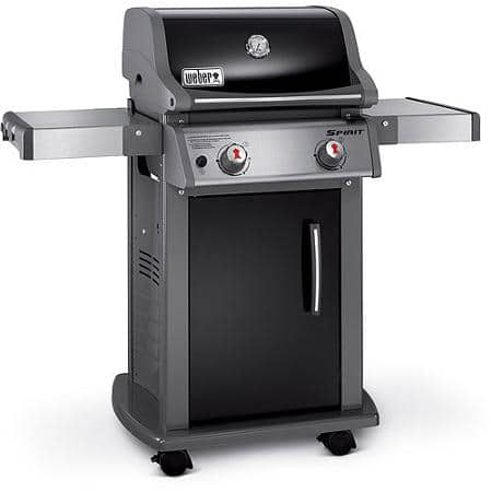 weber spirit e 210 2 burner lp gas grill black 200. Black Bedroom Furniture Sets. Home Design Ideas