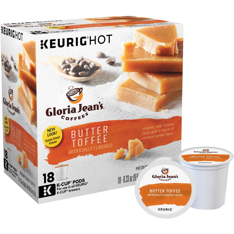 keurig kcups gloria jeanu0027s coffee butter toffee 18 count 288 walmart bmymmv - Keurig K Cup