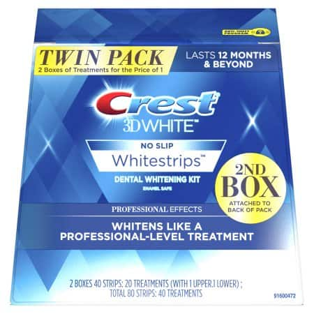 Crest 3D White Whitestrips Professional Effects,Twin Pack, 40 Treatments $44.88 @ Walmart.com~Free Shipping Or Store Pickup!
