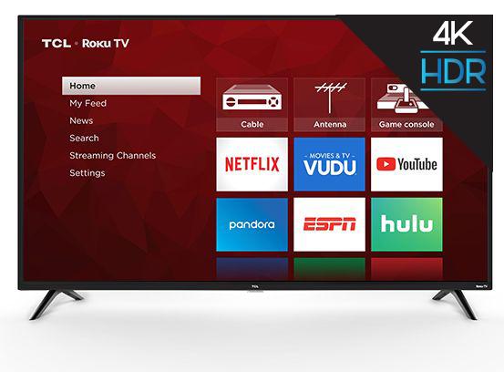 "TCL 55"" Class 4K Ultra HD (2160P) HDR Roku Smart LED TV (55S421) $268 @ Walmart.com~Free Shipping Or Pick Up/B+M Too!"