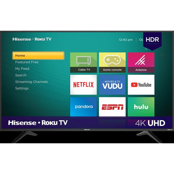 "Hisense 55"" Class 4K UHD LED Roku Smart TV HDR 55R6E3~$154 @ Walmart B+M~YMMV!"