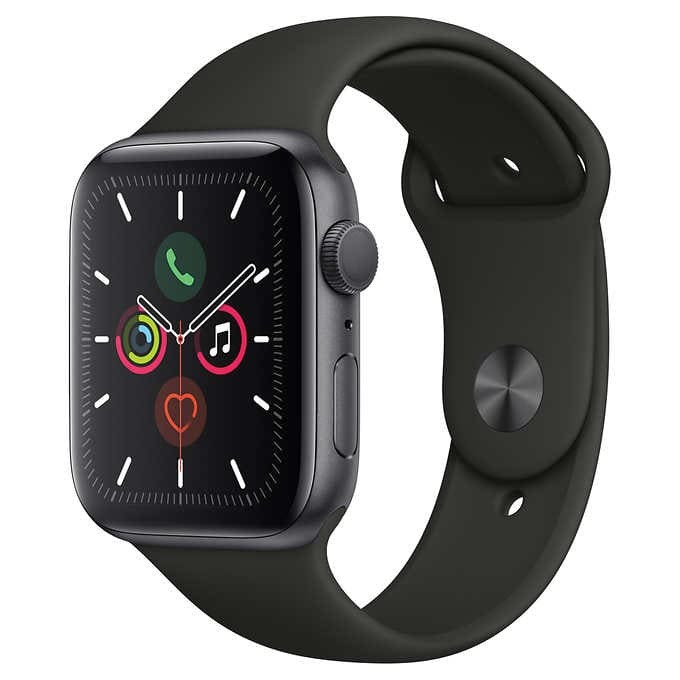 Apple Watch Series 5 44 mm GPS $384.99, 40 mm GPS $354.99, also Cellular