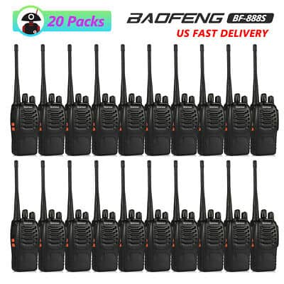 20x Baofeng BF-888S UHF Ham Two-way Radio Handheld 5W Walkie Talkie + Earpiece $144.99