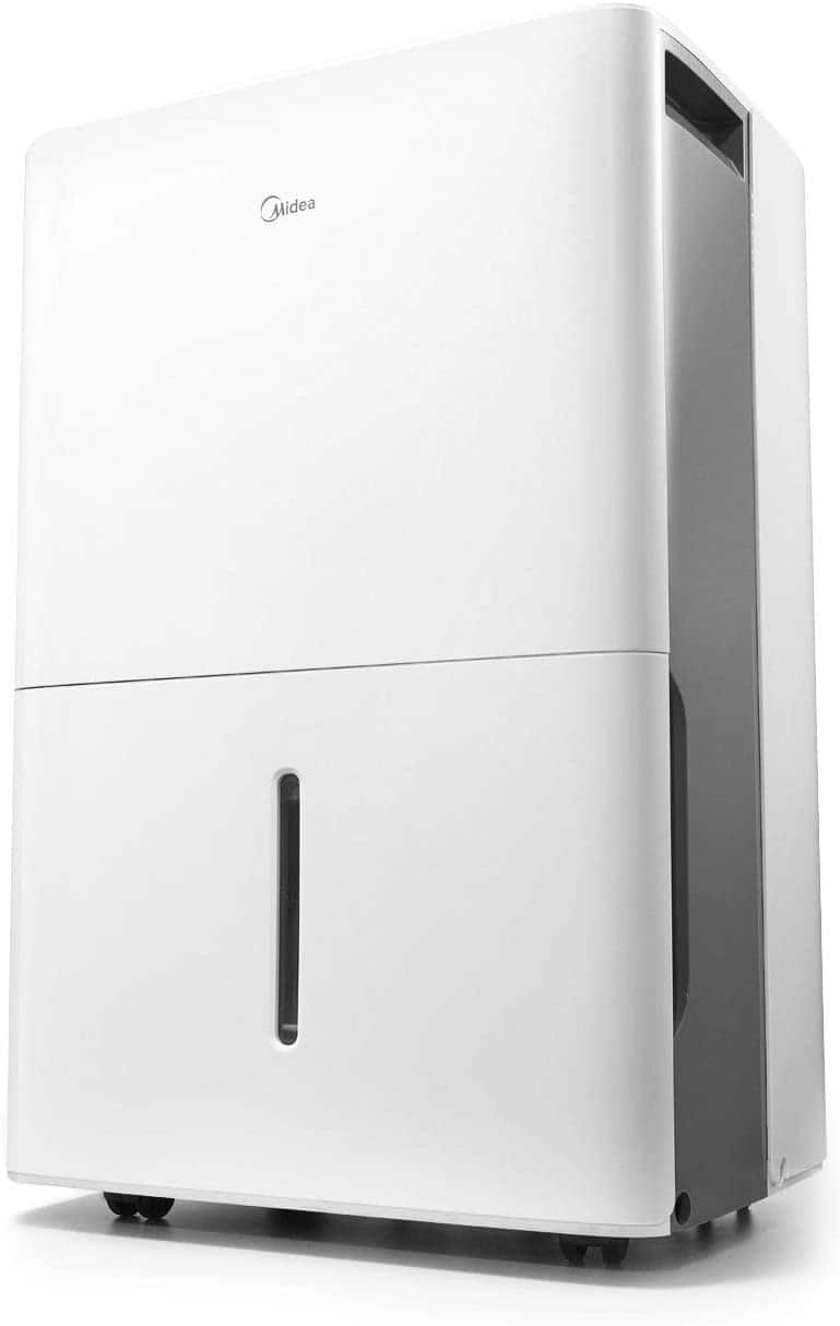 MIDEA MAD50C1ZWS Dehumidifier for up to 4500 Sq Ft with Reusable Air Filter, Ideal for Basement, Bedroom, Bathroom, New 50 Pint-2019 DOE (Previous 70 Pint), White $169