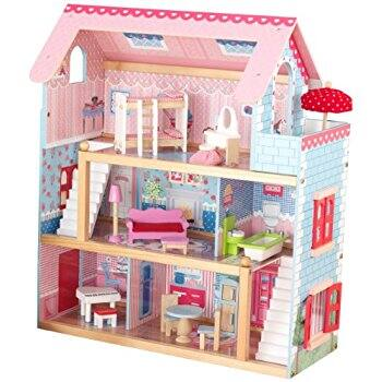 Kidkraft Chelsea Doll Cottage Dollhouse with furniture $44 at Amazon