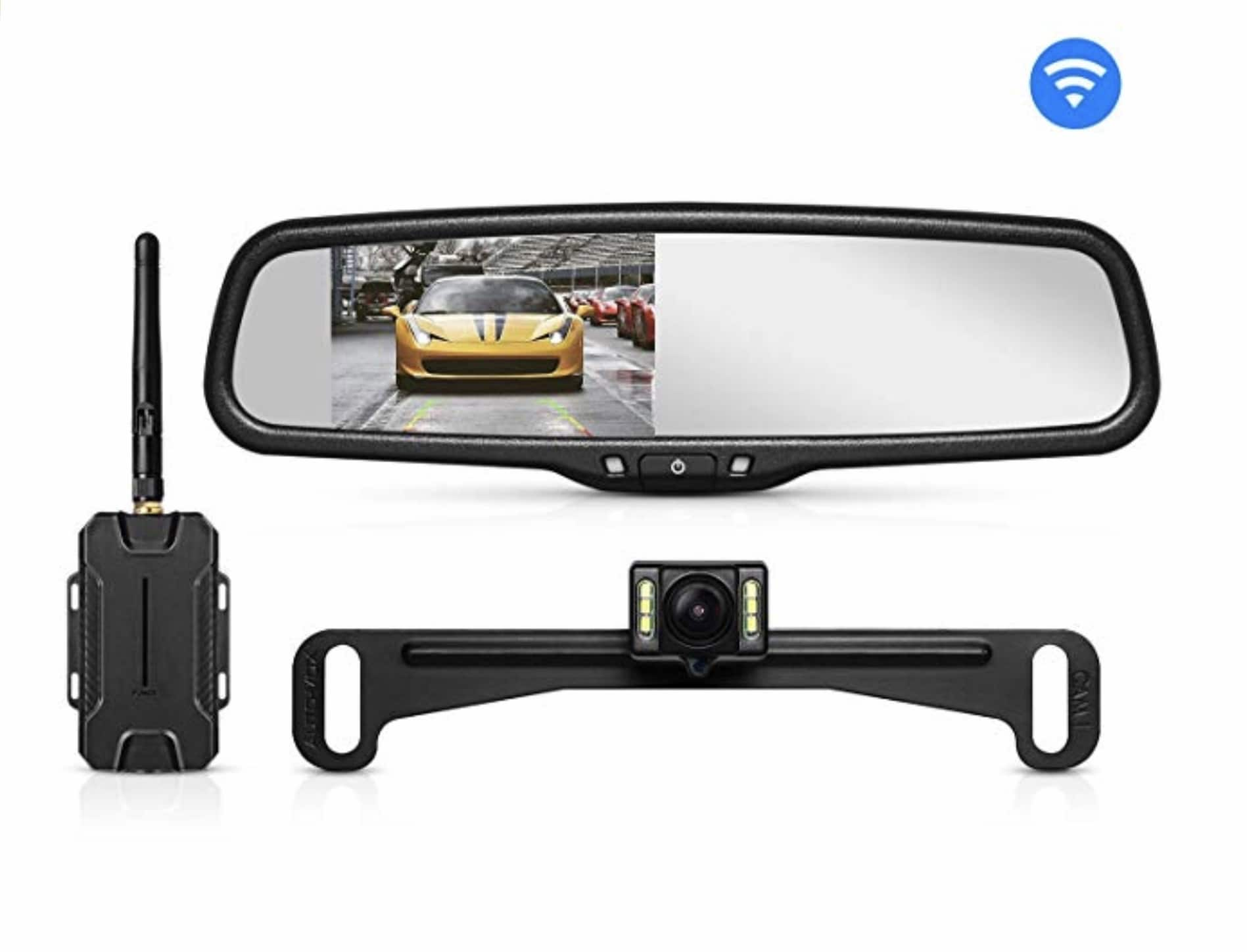AUTO-VOX T1400U Wireless Backup Camera Kit, IP 68 Waterproof with 4.3 in LCD - $96.55@Amazon