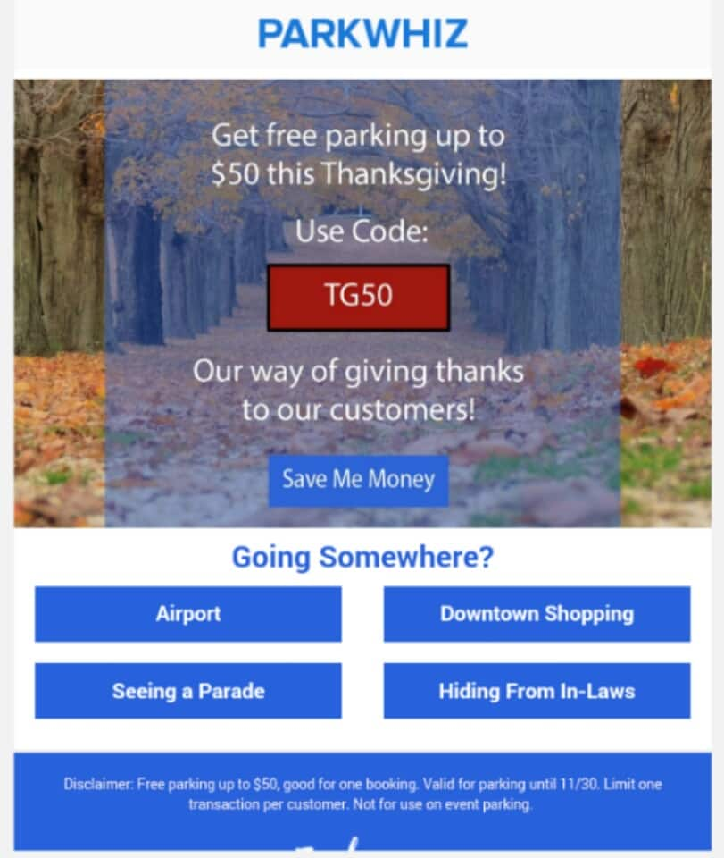 ParkWhiz FREE Parking up to $50