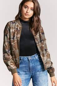 Double Breasted Knit Blazer/Camo Print Bomber Jacket $9.48, Abstract Crepe/ Floral bomber Jacket $7.98 + Free Shipping