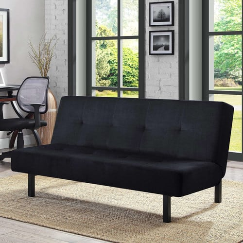 deal image 65   mainstays 3 position adjustable futon  tan or grey      rh   slickdeals