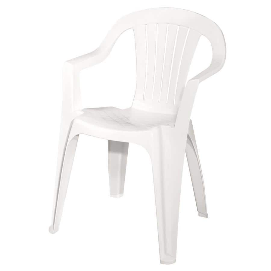 Lowes adams mfg corp stackable resin dining chair with slat seat 2 49 ymmv