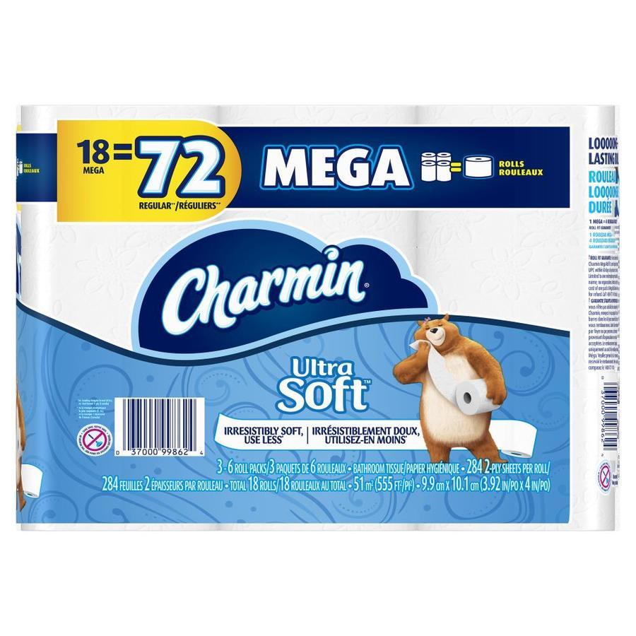 Charmin 18 Mega Rolls Ultra Soft Toilet Paper @ Lowes YMMV $11.79