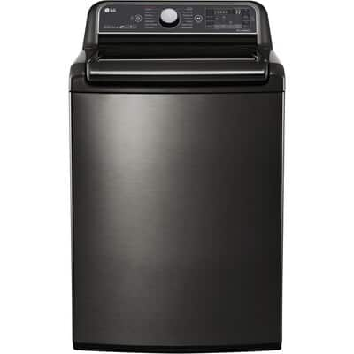 *YMMV* LG 5.2-cu ft High Efficiency Top-Load Washer (Black Stainless Steel) $278.4