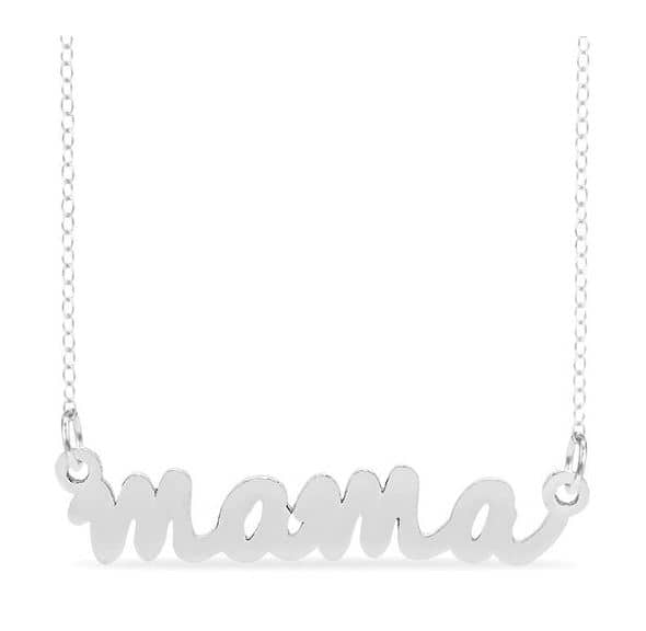 Zales: Gold Plated Mama Name Necklace $21.99, or in Sterling Silver for $17.99
