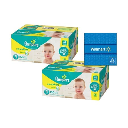 Walmart: Buy 2 Pampers Boxes, Get a $20 Walmart eGift Card