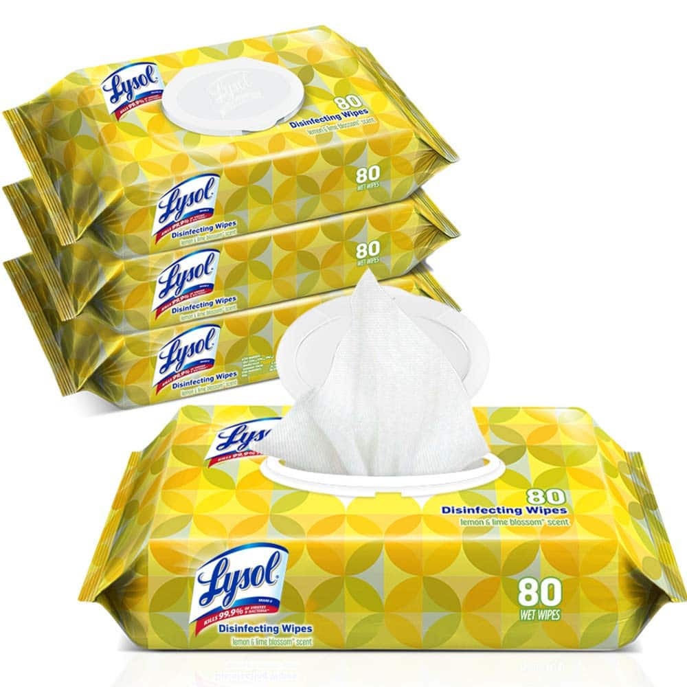 Lysol Handi-Pack Disinfecting Wipes, 320ct (4X80ct), Lemon & Lime Blossom $10.24 @ Amazon