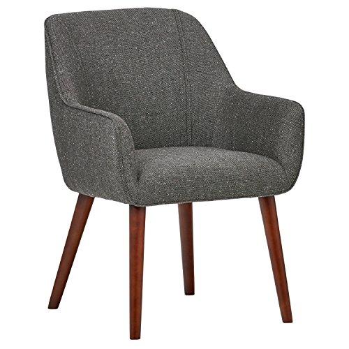 Rivet Julie Mid-Century Modern Slope Accent Kitchen Dining Room Chair (Ash Grey) $145.66