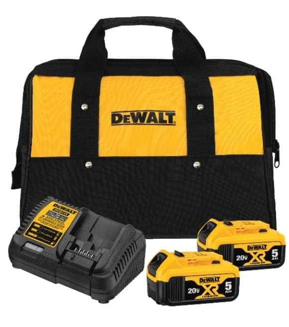 DeWalt 20v Bare Tool Starter Kit, with 2 XR 5ah Batteries & Charger $99.00 Wilco Farm Stores