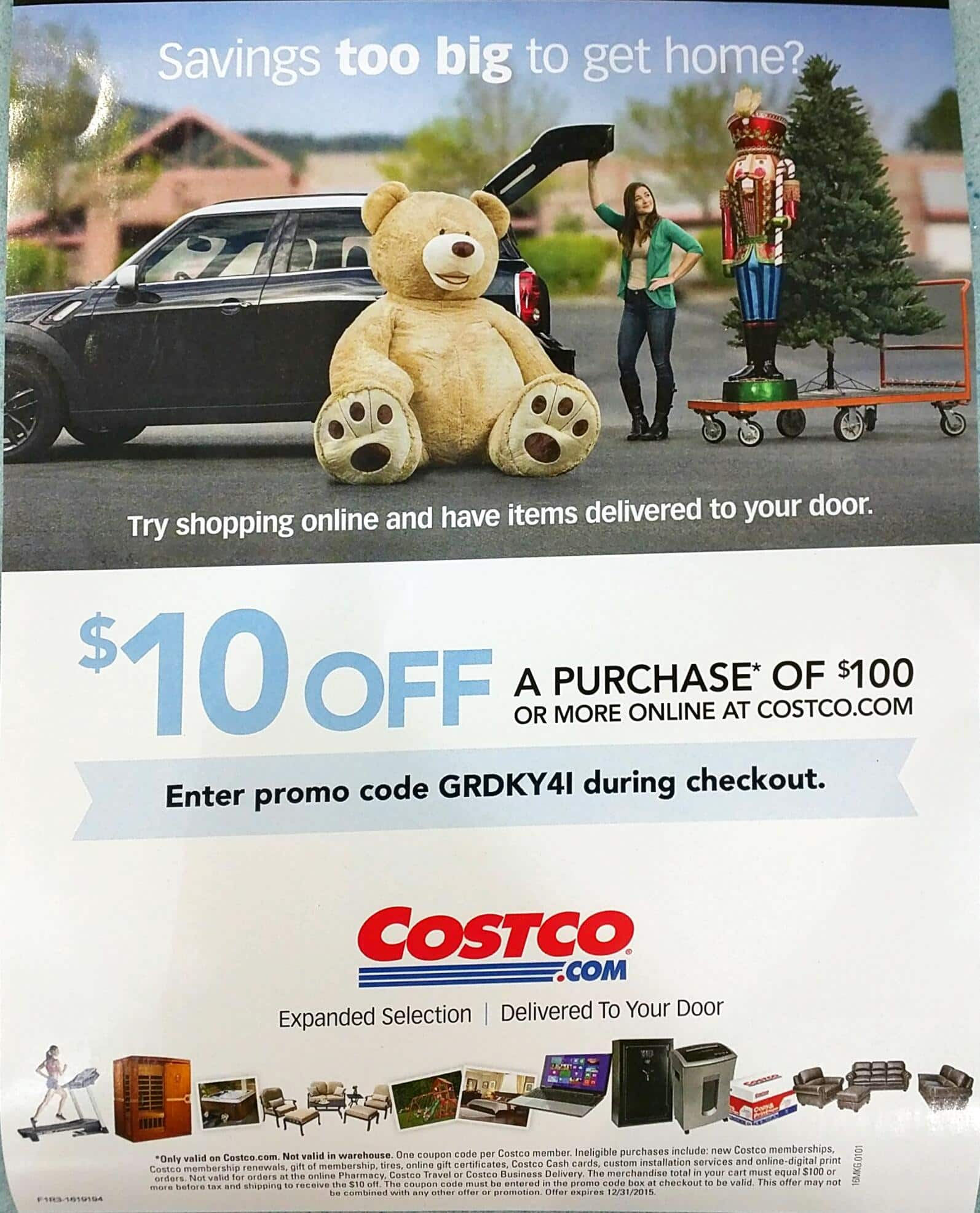 costco 10 off 100 on costco com one time use codes slickdeals net