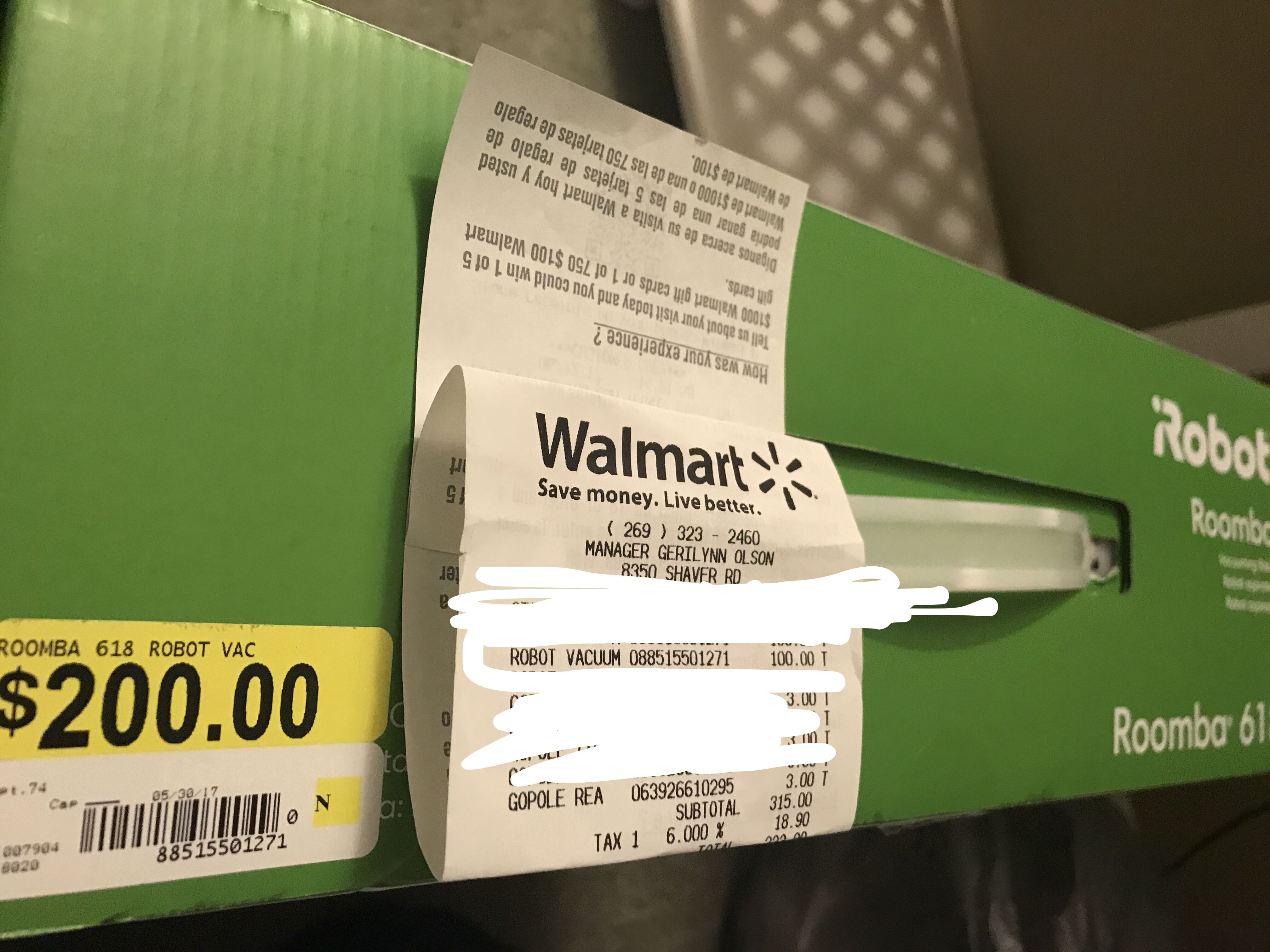 iRobot Roomba 618 $100 Walmart YMMV Vacuum