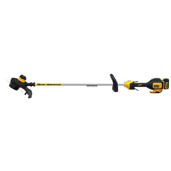 Dewalt 20-Volt MAX Lithium-Ion Cordless 13 in. Brushless Dual Line String Grass Trimmer w/ (1) 5.0Ah Battery and Charger - YMMV $124.99