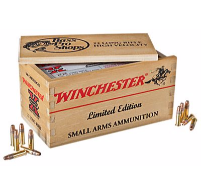 . 22LR ammo Winchester 500 rounds w/ wood box $34.99 @ Bass Pro