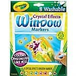 Crayola Window Markers with Crystal Effects 8-Pack $2.00 Amazon Add-On