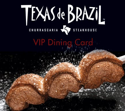 Texas de Brazil VIP Cards: 12x 50% Off Dinners for $62.99 + shipping