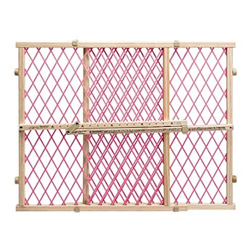 Evenflo Position and Lock Doorway Gate, Pink.  $9.50 from Amazon