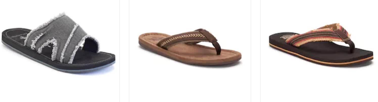 596b2c6ec Kohl s Cardholders  Men s Flip-Flops   Sandals (various ...