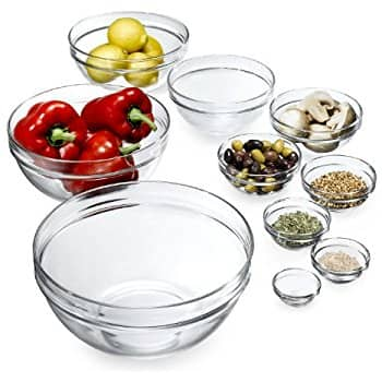 """amazon  - Luminarc 10-Piece  Stackable Glass Bowl Set - $15.85(was $37.99) High Ratings.  """"Amazon's Choice""""  Product"""