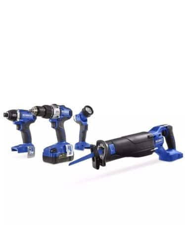 Lowes has Kobalt 4-Tool 24-Volt Max Lithium Ion Brushless Cordless Combo Kit at 40% off for $179.00