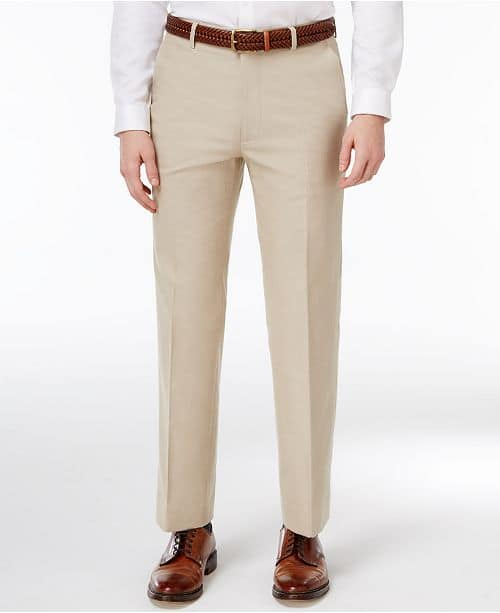 Macys: Tommy Hilfiger Modern-Fit Khaki Stretch Performance Suit Separates - Pants - $23.99 - Suit Jacket - $72.00