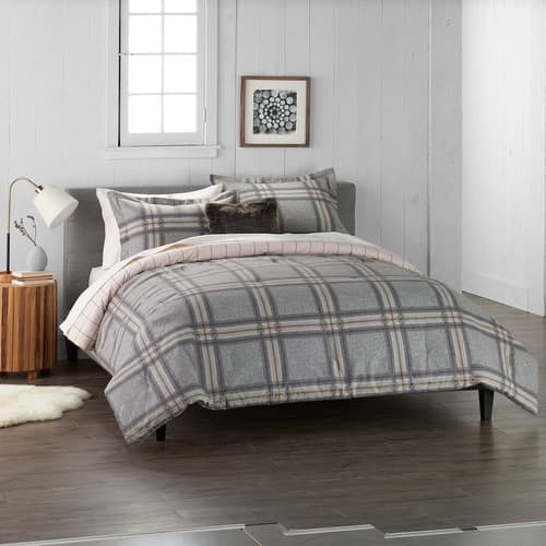 Cuddl Duds 4-piece Flannel Comforter Set - King Size - 3 Color Choices $29.39.   Kohls Card Holders.