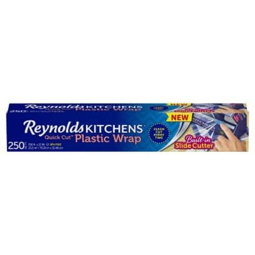 3-Ct. Reynolds Kitchens Quick Cut Plastic Wrap - 250 sq ft  $6.75  @ Target with Cartwheel Coupon and REDcard Checkout. Order Online for Store Pickup.