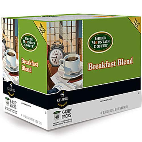 JCPenney: 48-Count Keurig Green Mountain Coffee Breakfast Blend K-Cups $9.99
