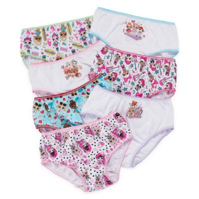 JCPenney: 9Pk Big Girls Panties $6.65, 7Pk Little Girls-LOL Surprise,Trolls & Fancy Nancy $6.30, Okie Dokie 7 Pk Toddler $4.90. Free Store Pickup.