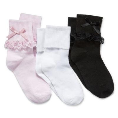 JCPenney: *Girls* 3Pk. Lace or CrochetTrim Dress Socks $3.50, Arizona 10Pk Socks $7.70, Gold Toe 6Pk. No-Show Socks $4.90 Free Store Pickup.