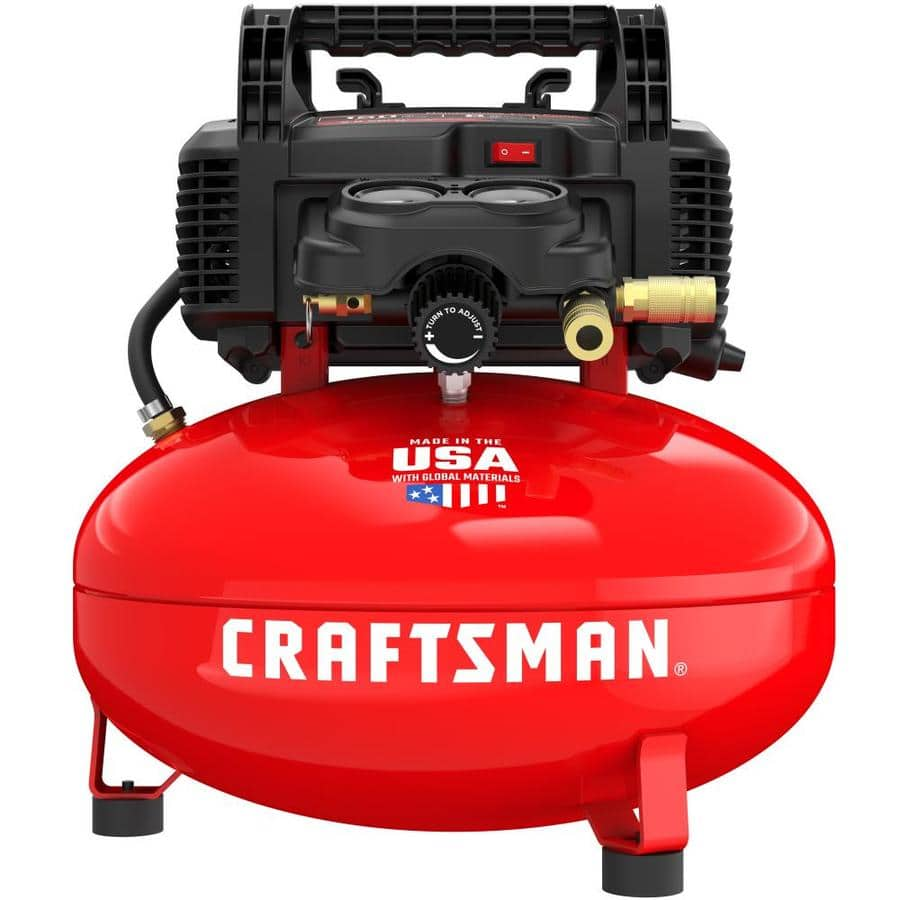 CRAFTSMAN 6-Gallon Portable Electric Pancake Air Compressor $99 @ Lowes