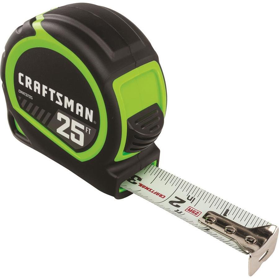 CRAFTSMAN HI-Visibility 25-ft Tape Measure $4.98 @ Lowes