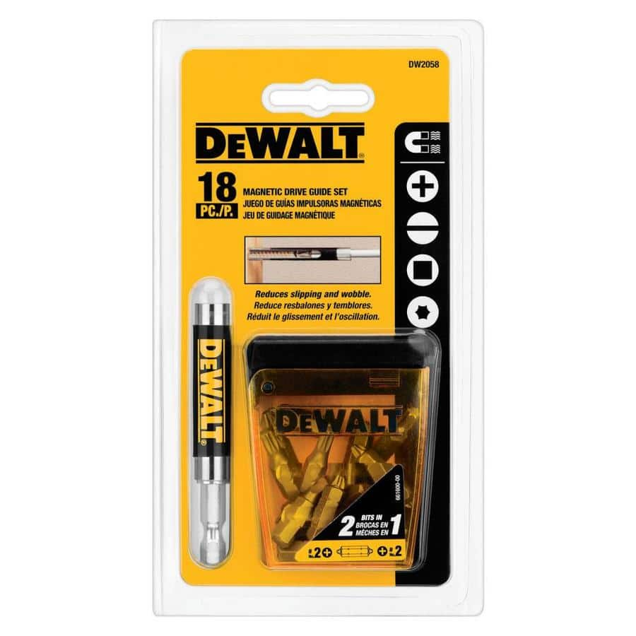 DEWALT 18-Piece Steel Hex Shank Screwdriver Bit Set $5.98 @ Lowes