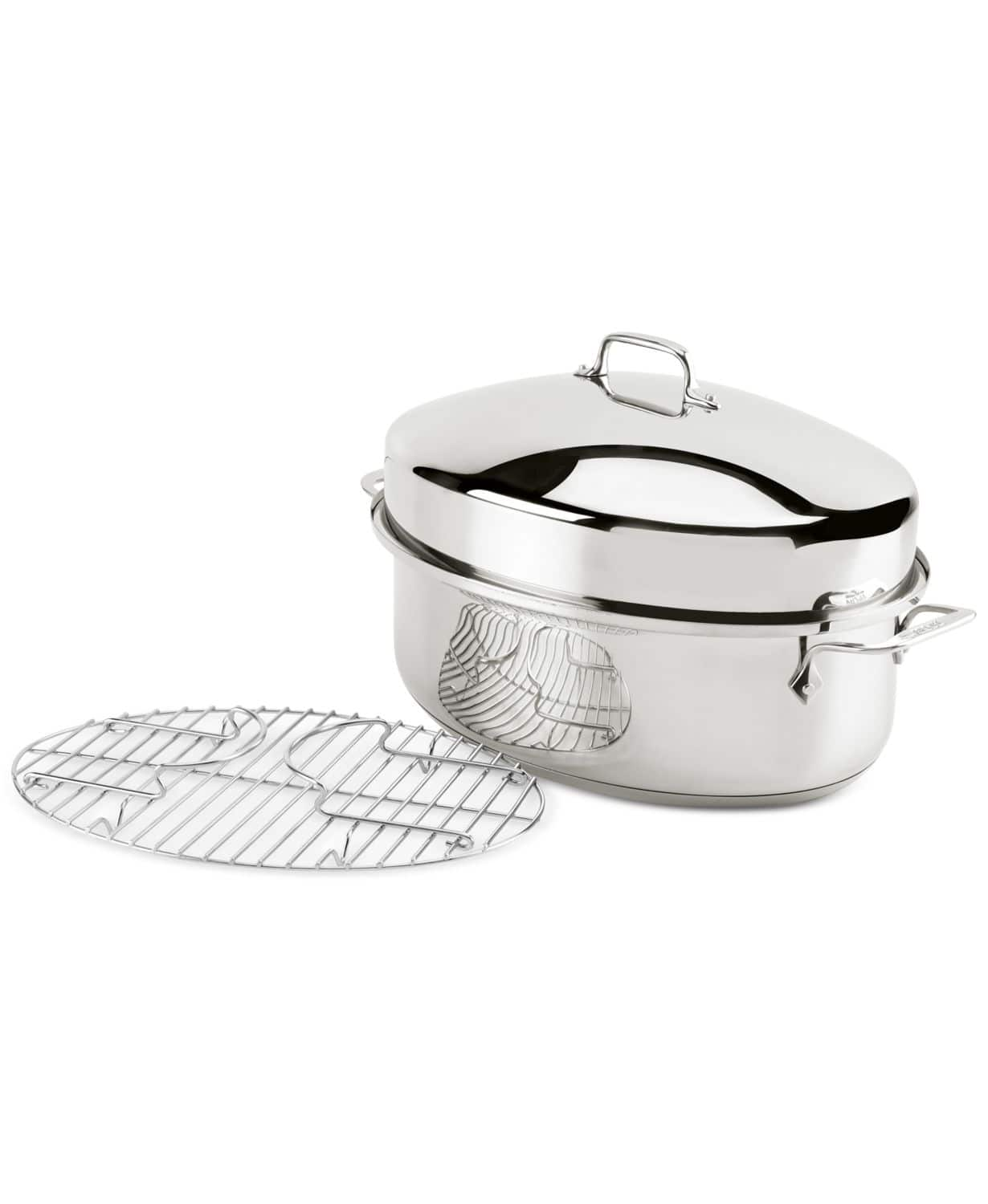 All-Clad Stainless Steel Oval Roaster & Rack $139.99 at Macys.