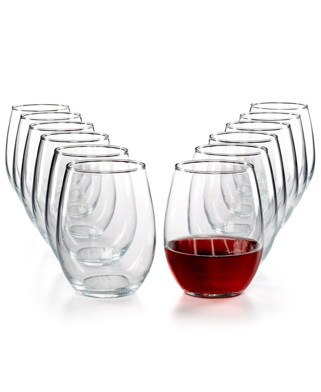 Macys: Martha Stewart 12Pc Drinkware Sets $9.99. Stemless Wine Glasses, Large Tumblers & Small Tumblers