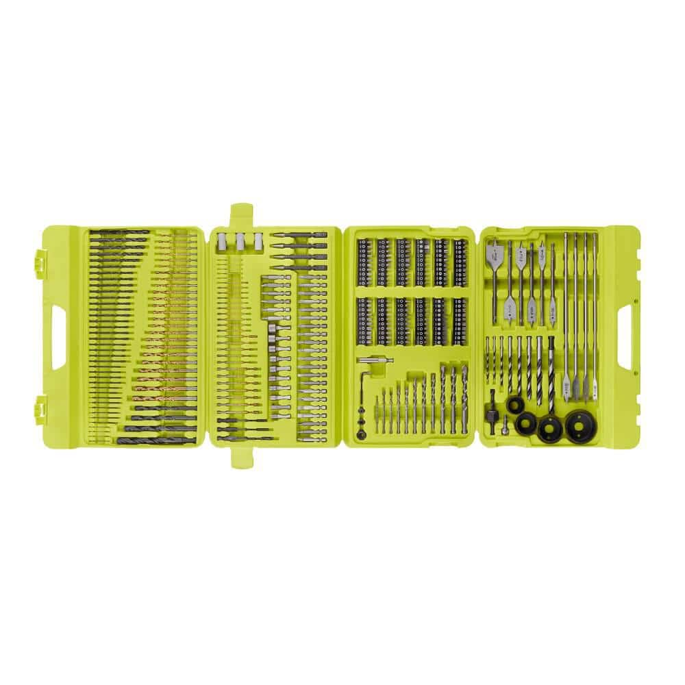 RYOBI Multi-Material Drill and Drive Kit 300-Pieces with Case $49.97 at Home Depot.