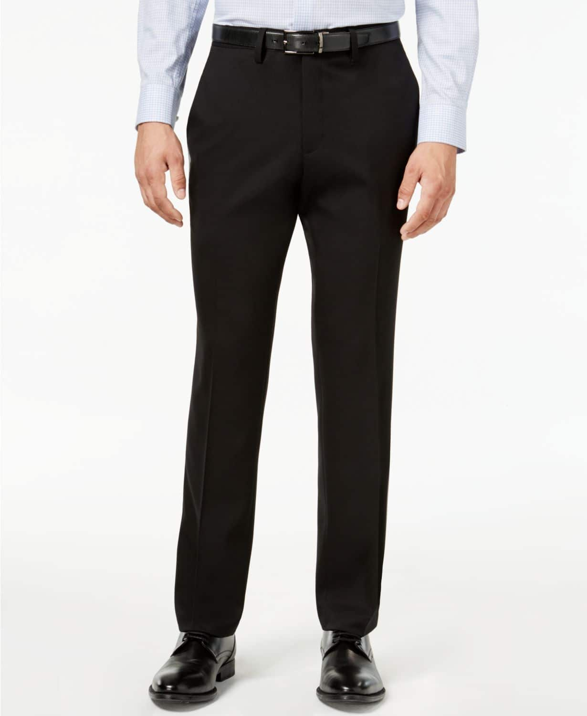 2b1ba6027a Kenneth Cole Reaction Men's Slim-Fit Stretch Gabardine Dress Pants ...